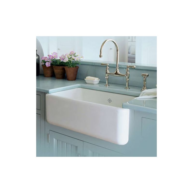 Rc3018wh in white by rohl for Farm style kitchen faucets