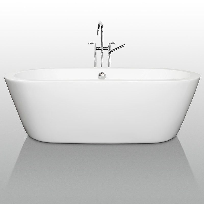 Faucetcom WCOBT In White By Wyndham Collection - Drain for freestanding tub