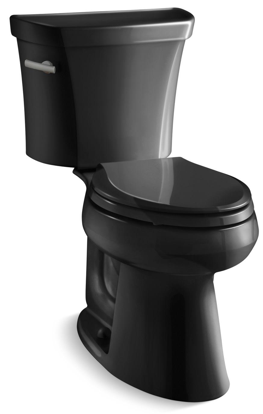 Strange Kohler K 3999 U 7 Black 1 28 Gpf Two Piece Comfort Height Machost Co Dining Chair Design Ideas Machostcouk