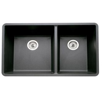 Blanco 441128 anthracite precis 1 3 4 bowl double basin for How much does composite decking weigh