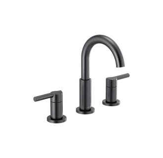 Delta 35749lf Bl Matte Black Nicoli 1 2 Gpm Widespread Bathroom Faucet With Pop Up Drain Assembly Faucetdirect Com