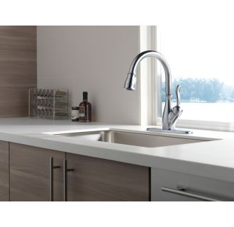 Delta-9178-DST-Installed Faucet in Arctic Stainless