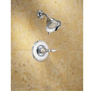 Delta-T14255-LHP-Installed Shower Trim in Chrome