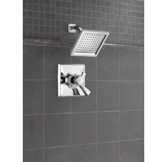 Delta-T17251-Installed Shower Head in Chrome