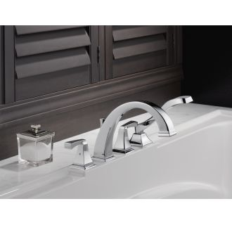Delta-T4751-Installed Tub Filler in Chrome