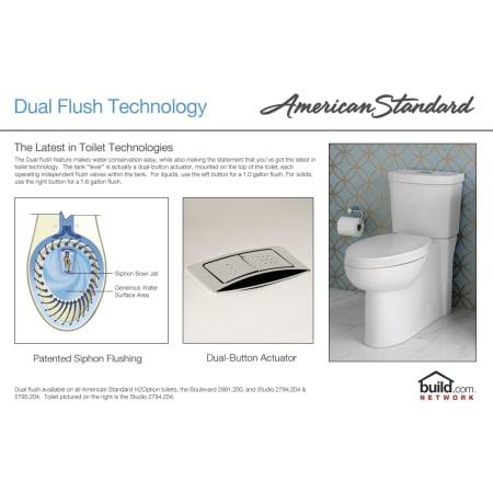 American Standard 2794 204 020 White Studio Elongated Two
