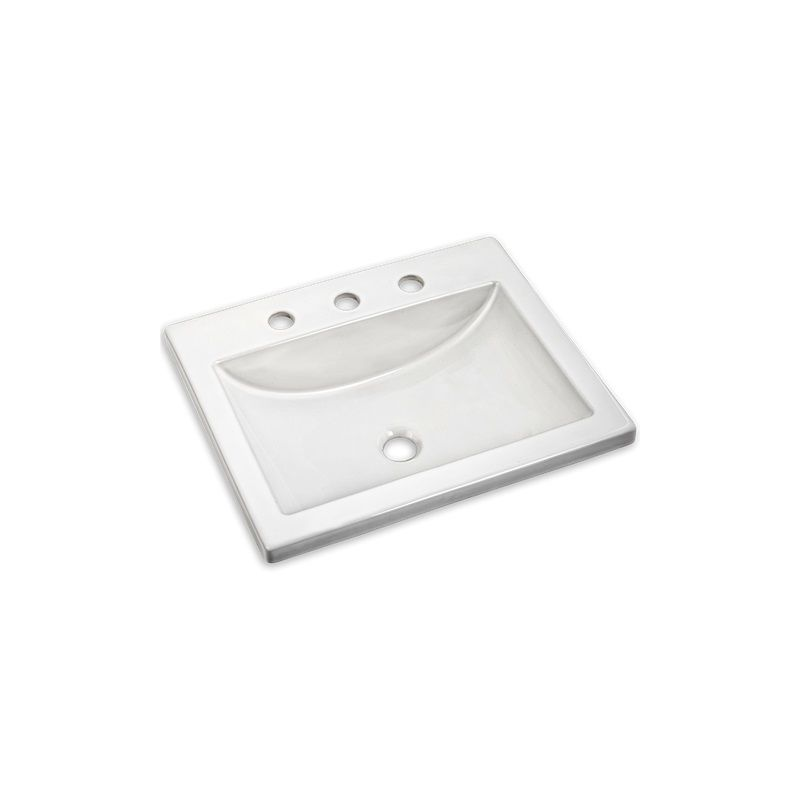 American standard white 21 drop in bathroom for Lavabo salle de bain american standard