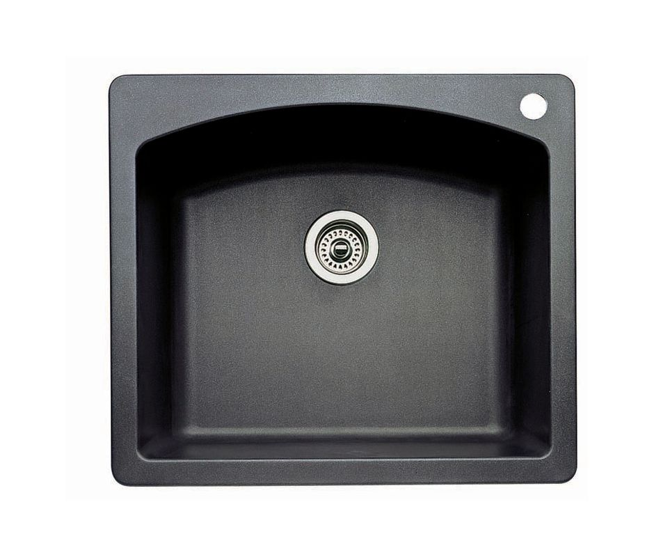 Blanco 440210 Anthracite Diamond Single Basin Silgranit Ii