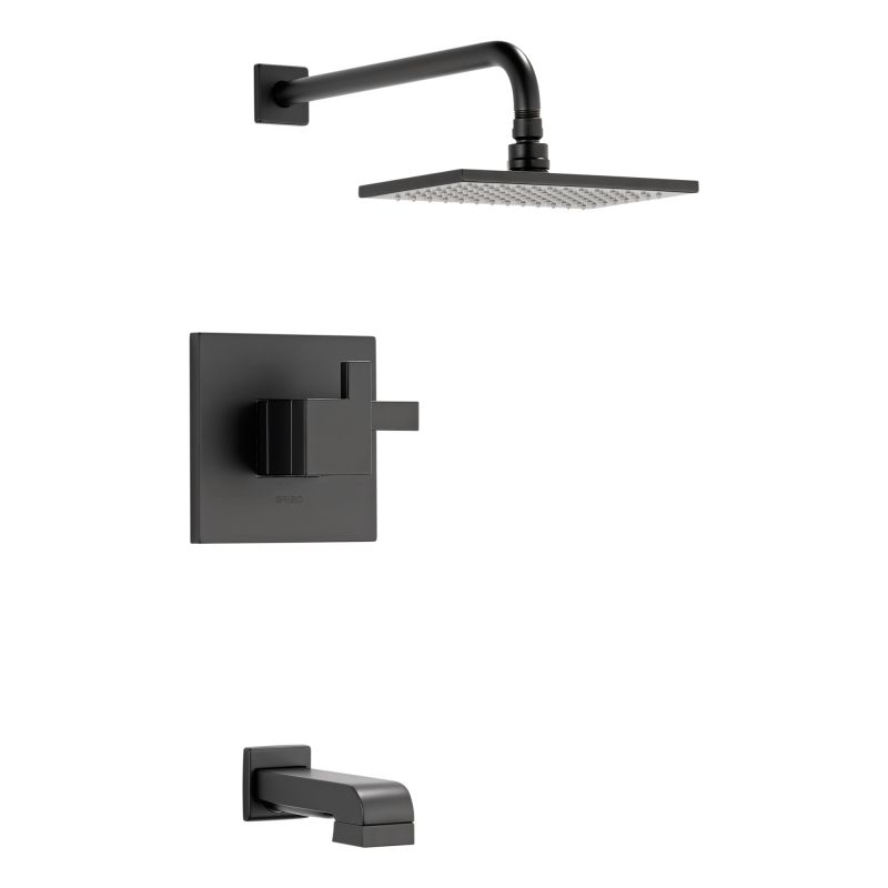 Brizo T60480 Bl Matte Black Tub And Shower Trim Package