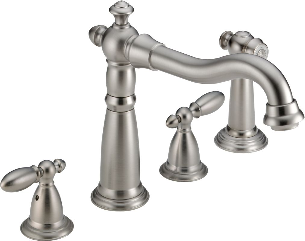 Delta 2256 Ss Dst Brilliance Stainless Victorian Kitchen Faucet With Side Spray