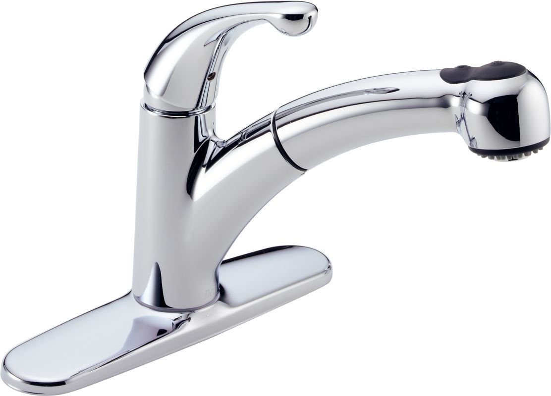 Delta 467 Dst Chrome Palo Pull Out Kitchen Faucet With