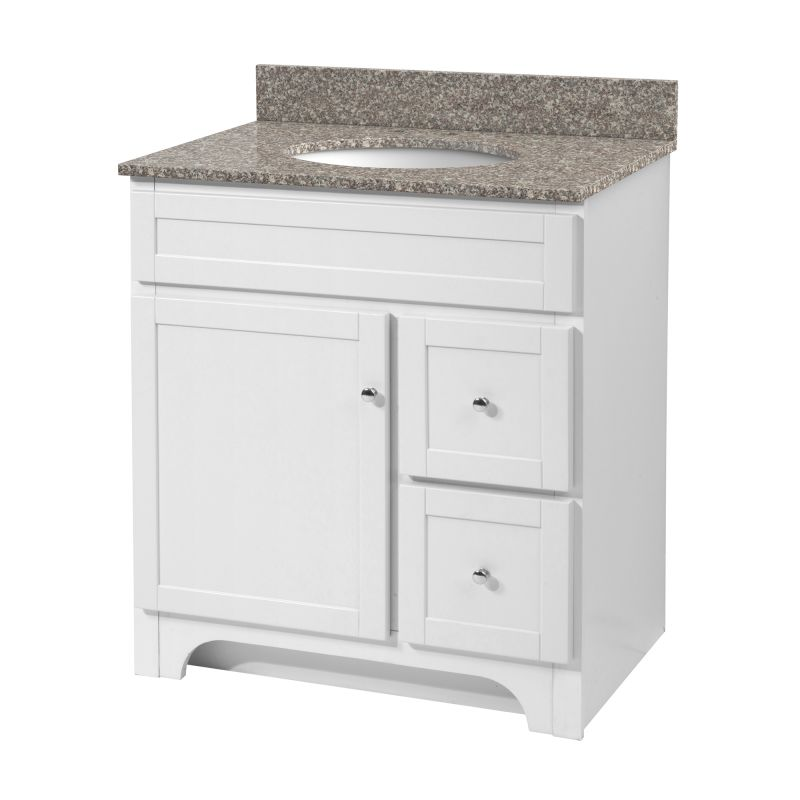 Foremost Wrwa3021d White Worthington 30 Quot Vanity Cabinet