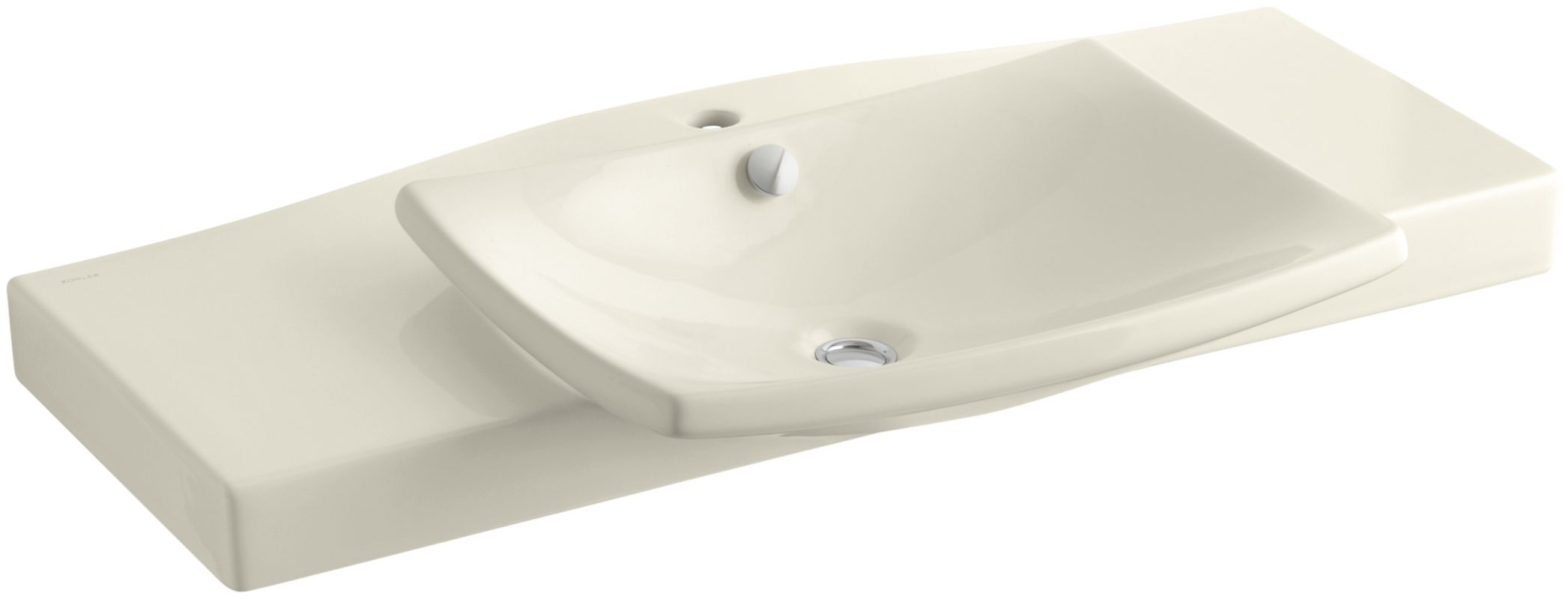 Kohler K 19034 1 47 Almond Escale 39 3 4 Fireclay Pedestal Bathroom Sin