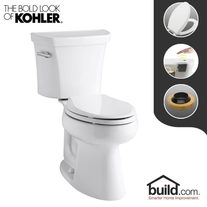 Kohler K 3979 0 Touchless White Highline 1 6 Gpf Elongated