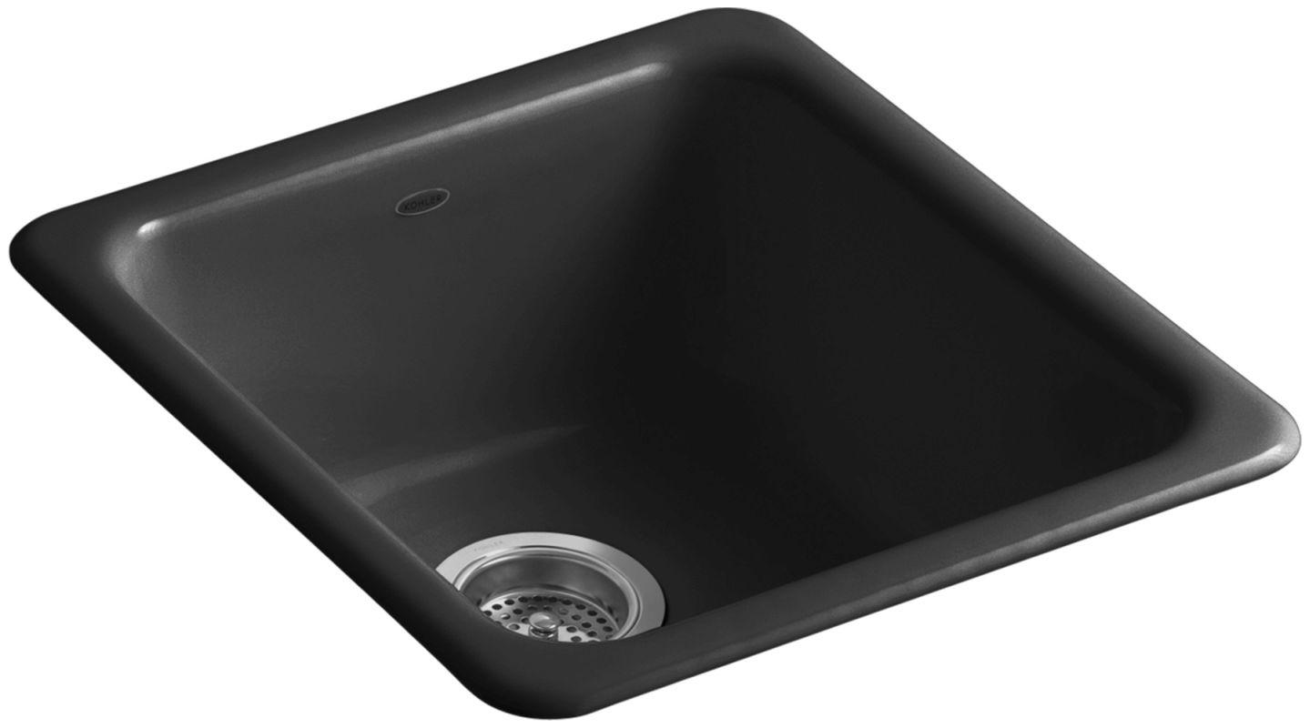 Kohler K 6584 7 Black Iron Tones 17 Quot Single Basin Top