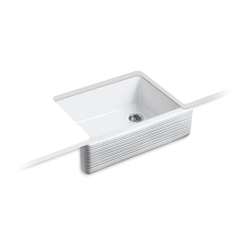 "Kohler K-7251-0 White Whitehaven 29-11/16"" Single Basin"