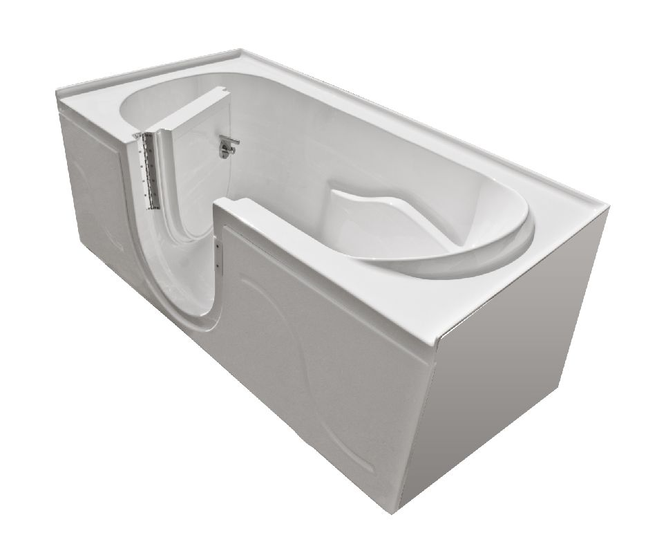MediTub 3060SIRWS White 60 X 30 Walk In Soaking Tub With And Righ