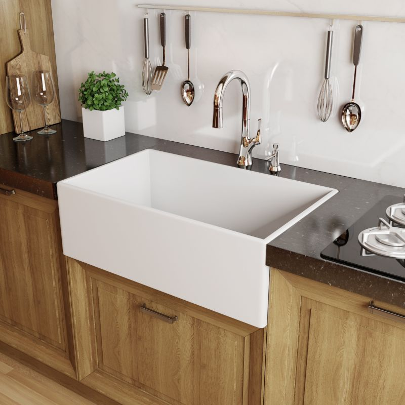 Farmhouse Sink White : White Modena 30
