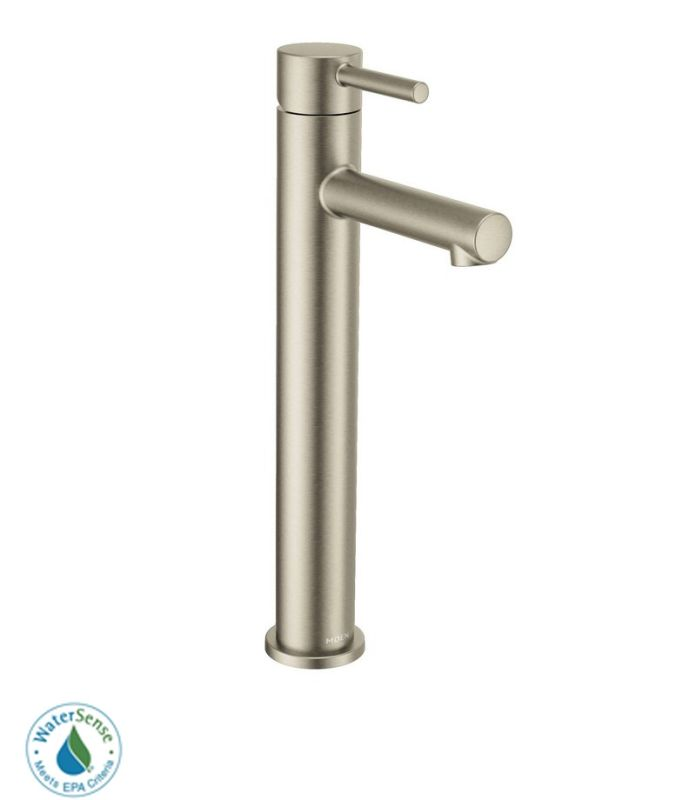 Moen 6192bn Brushed Nickel Single Handle Single Hole Bathroom Faucet From The Align Collection