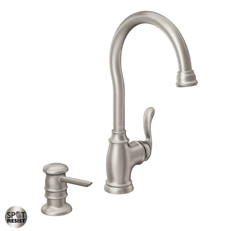 moen 87682srs spot resist stainless high arc kitchen