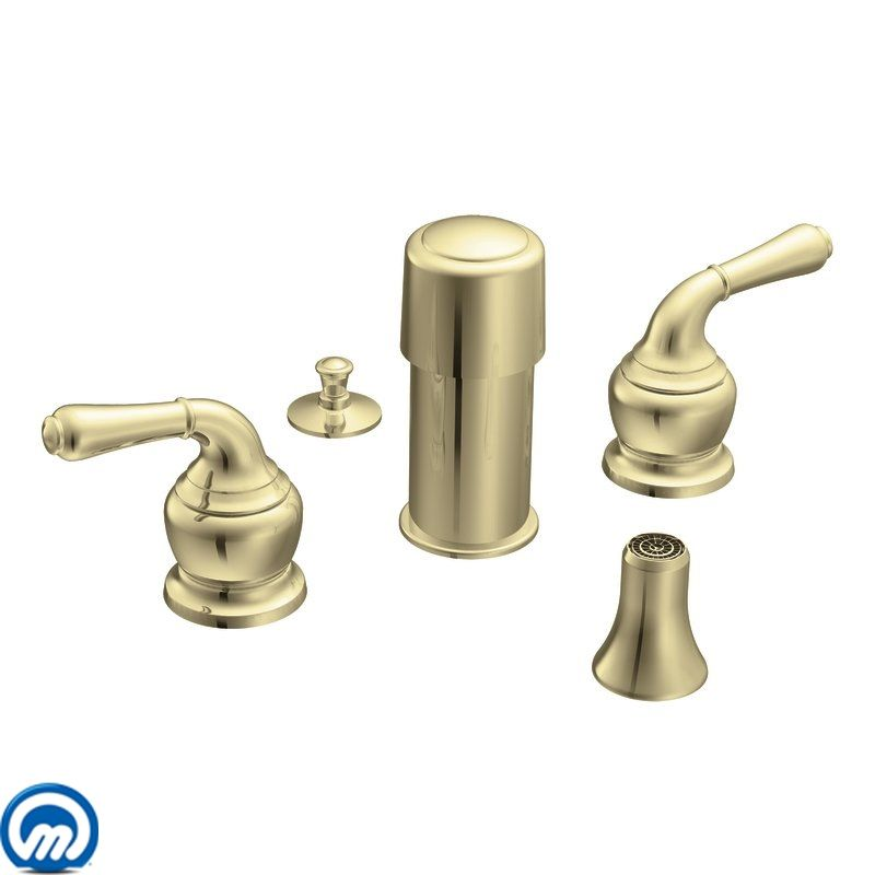 Moen T5270p Polished Brass Double Handle Bidet From The Monticello Collection