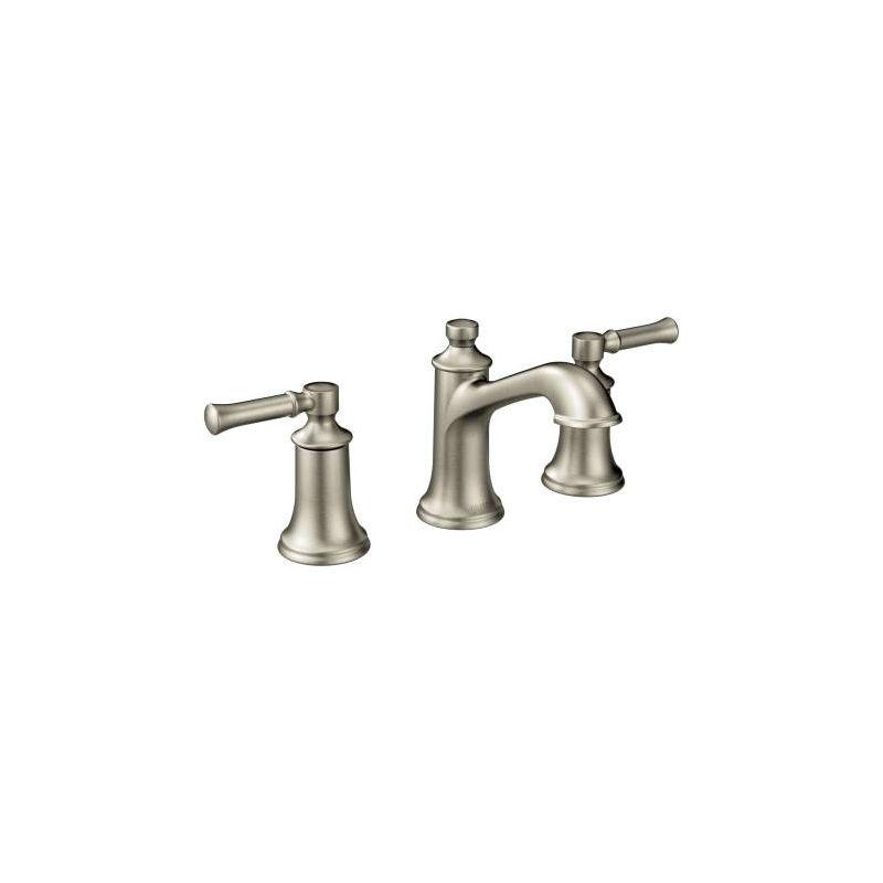 moen t6805bn brushed nickel double handle widespread bathroom faucet from the dartmoor