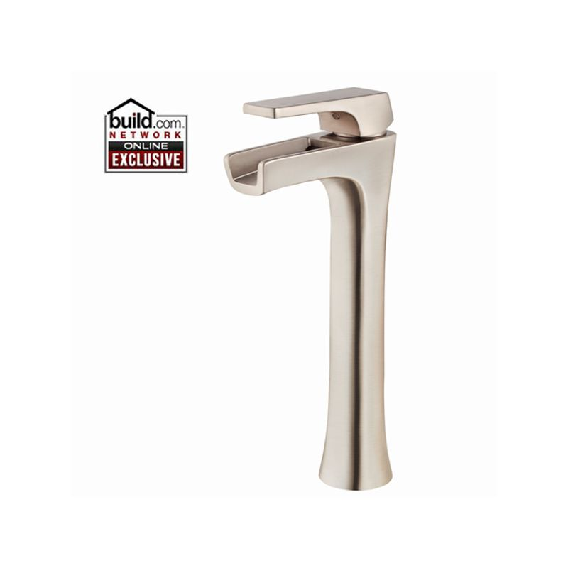 Pfister Lg40 Mf1k Brushed Nickel Kelen Single Hole Vessel Bathroom Faucet With Waterfall Spout