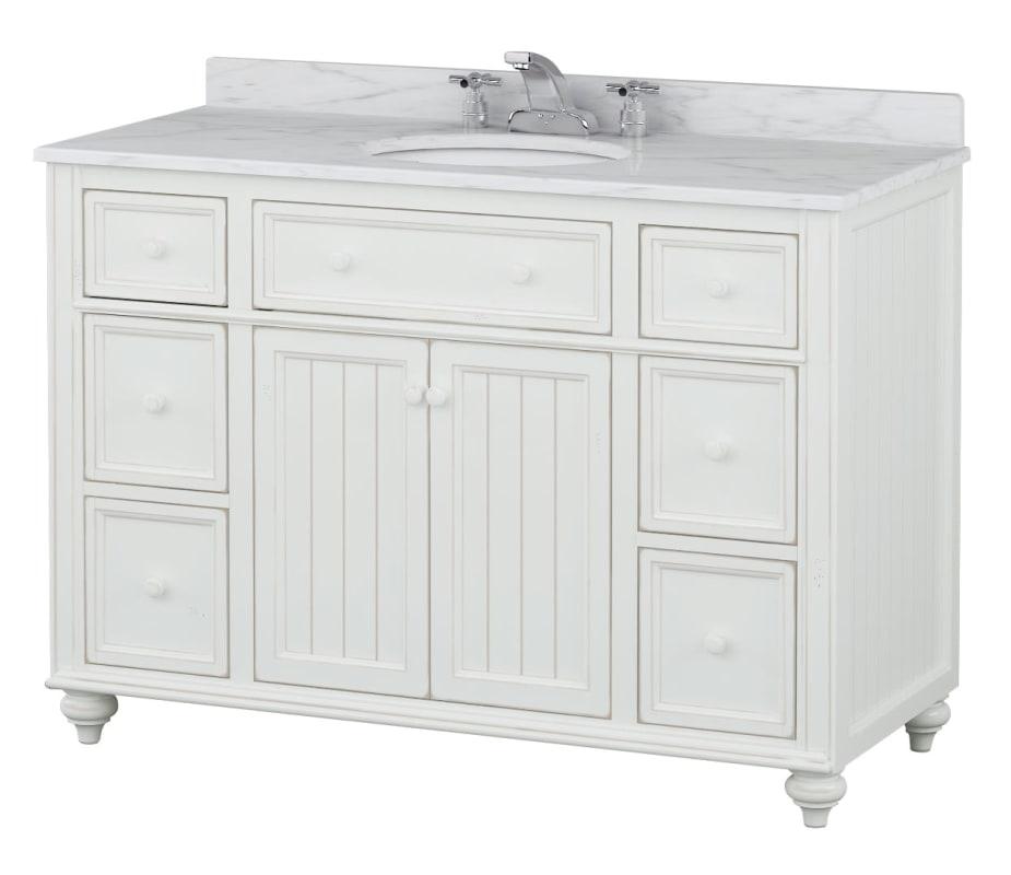 Sagehill designs cr4821dn designer white cottage retreat - Bathroom vanities with drawers only ...
