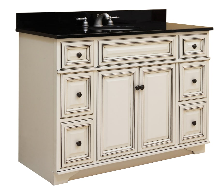 Sunny Wood Sl4821d Glazed White Sanibel 48 Quot Maple Wood