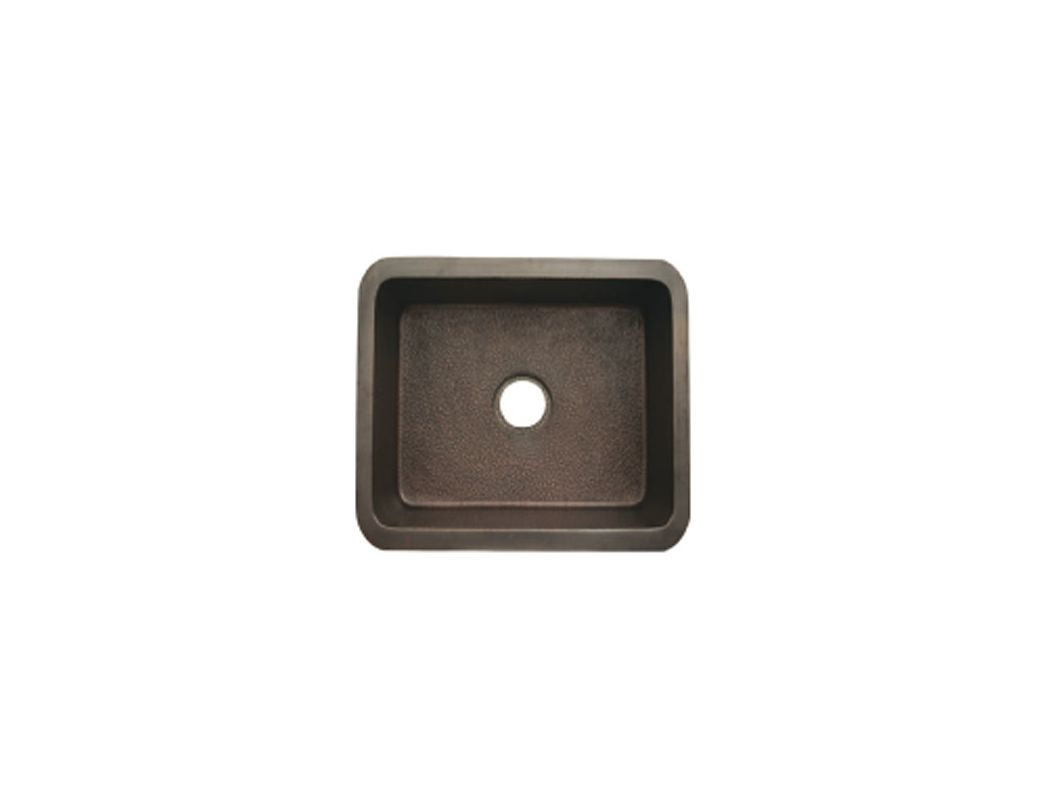 Whitehaus WH1921COUM SMOOTH COPPER Smooth Copper Rectangular Undermount Sink FaucetDirect