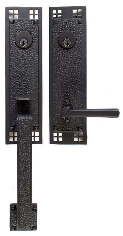 Emtek 4821us19 Flat Black Arts And Crafts Double Cylinder