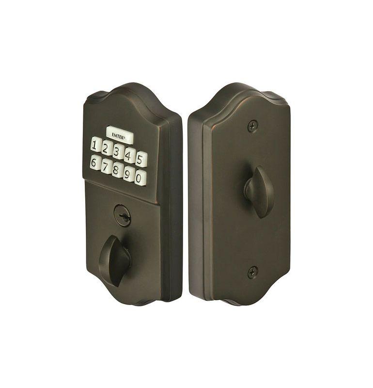 Emtek E1000us10b Oil Rubbed Bronze Single Cylinder Solid