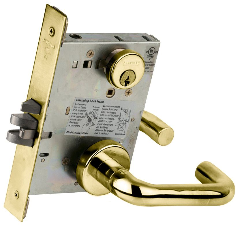 Schlage L9080605 Polished Brass L Series Commercial Grade
