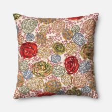 pillow with cotton and viscose cover and choice of down or polyester insert