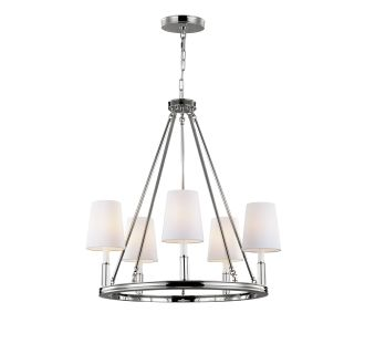Feiss F2922 5pn Polished Nickel Lismore 5 Light 1 Tier Chandelier Lightingdirect Com