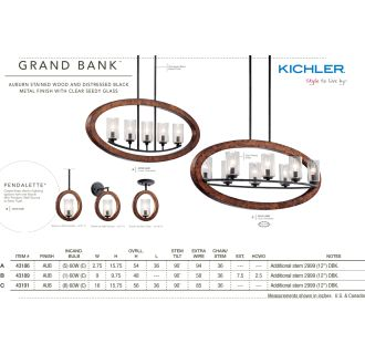 Kichler Grand Bank Collection