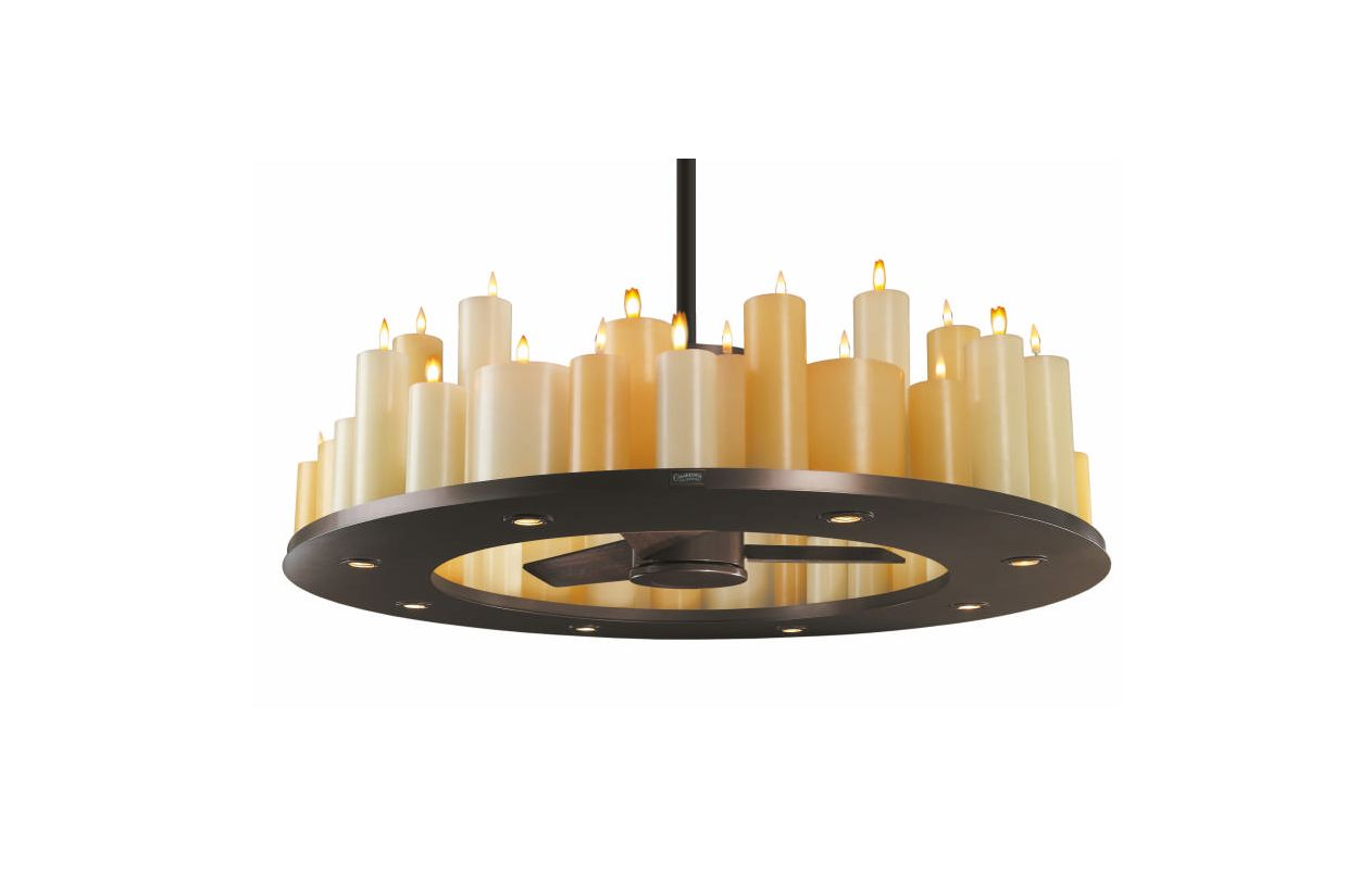 Casablanca C16g73t Oil Rubbed Bronze Candle Lit Chandelier
