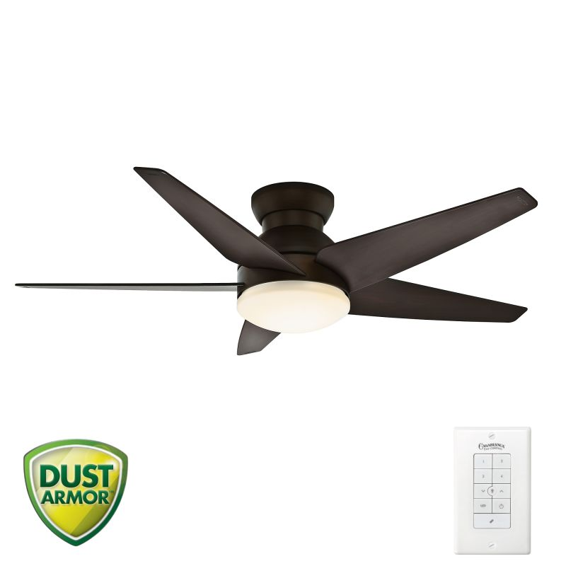 "Hunter Ashbrook 48 Brushed Cocoa Ceiling Fan With Light: Casablanca 59023 Brushed Cocoa Isotope 52"" 5 Blade Ceiling"