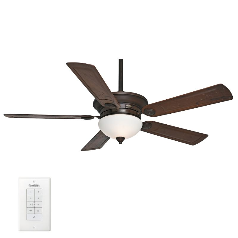"""Menards Ceiling Fans With Lights Ceiling Ceiling Fan With: Casablanca 59060 Brushed Cocoa Whitman 54"""" 5 Blade Ceiling"""