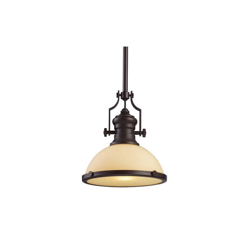 Elk Lighting Chadwick Pendant: Elk Lighting 66133-1 Oiled Bronze Chadwick Single-Light