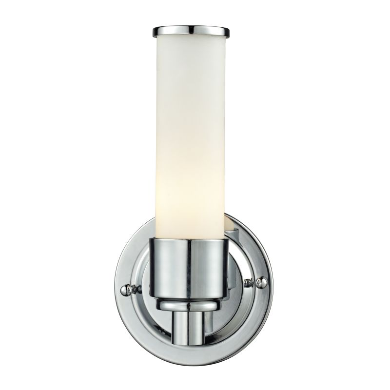 Elk lighting 84060 1 chrome metro 1 light 9 bathroom for Chrome bathroom sconce with shade