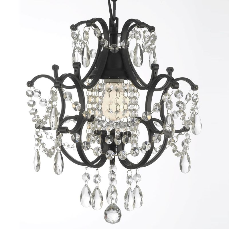 Gallery 592 1 Black 1 Light 1 Tier Wrought Iron And