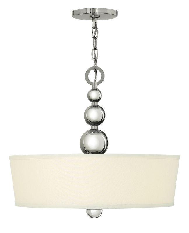 Hinkley Drum Lighting: Hinkley Lighting 3444PN Polished Nickel 3 Light Indoor