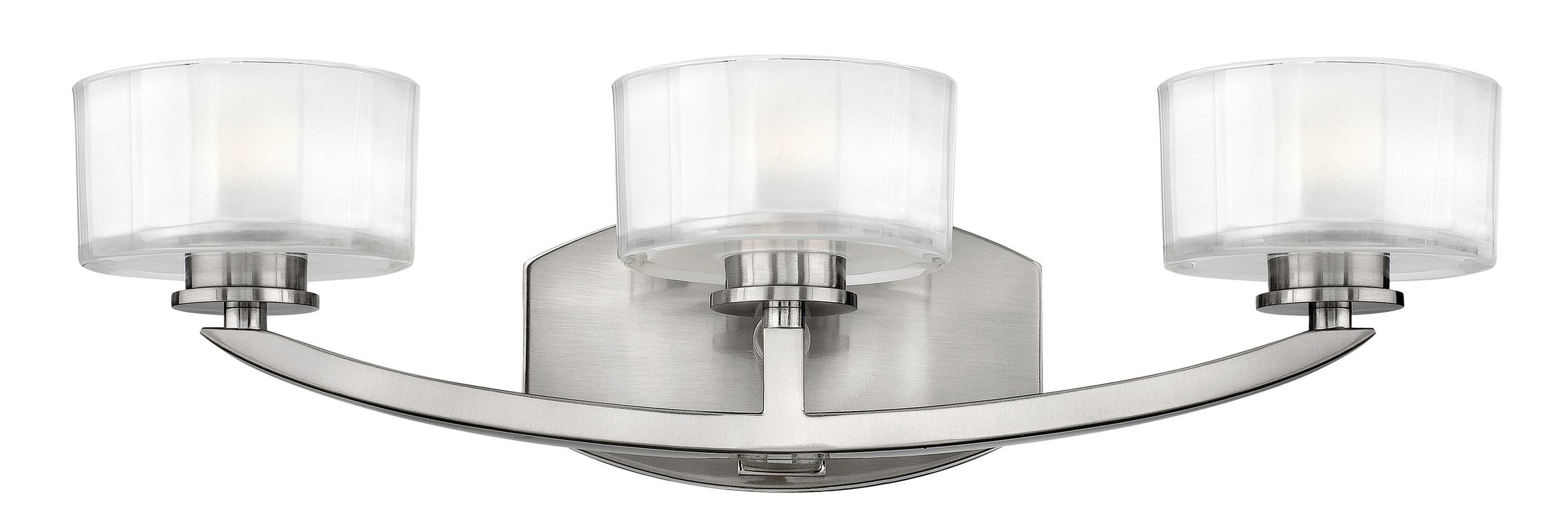 "Progress Lighting Rizu Collection 3 Light Brushed Nickel: Hinkley Lighting 5593BN Brushed Nickel 3 Light 21"" Width"