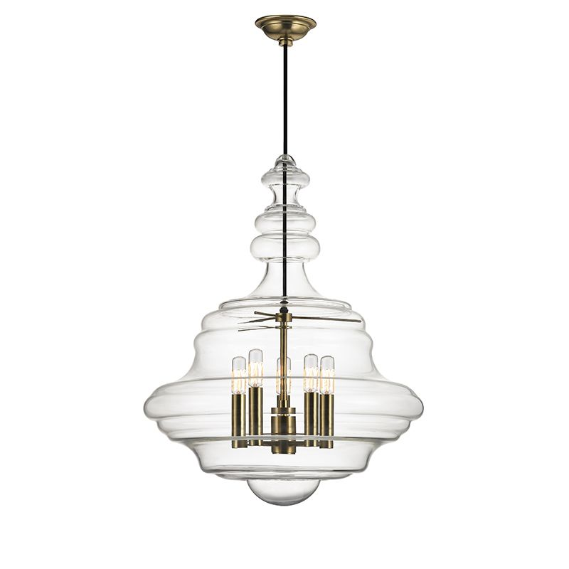 Hudson Valley Lighting Bulbs: Hudson Valley Lighting 4020-AGB Aged Brass Washington 5