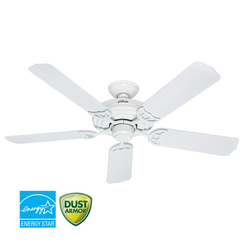 Hunter 53054 White 52 Quot Energy Star Rated Outdoor Ceiling