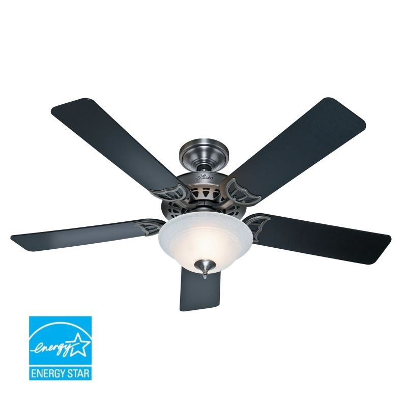 """Hunter Bluetooth Ceiling Fan: Hunter 53171 Antique Pewter 52"""" Energy Star Rated Indoor"""