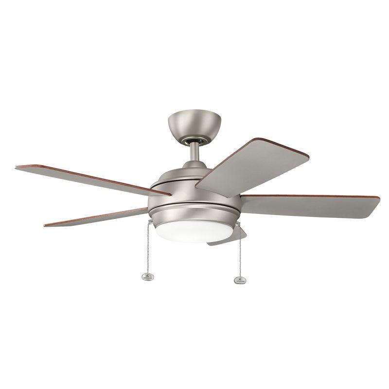 """Ceiling Fans Kichler: Kichler 330171NI Brushed Nickel 42"""" Indoor LED Ceiling Fan"""