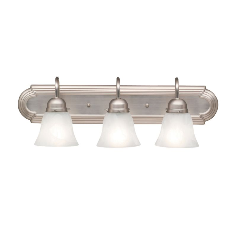 Kichler 5337ni brushed nickel 3 light 24 wide vanity - 8 light bathroom fixture brushed nickel ...