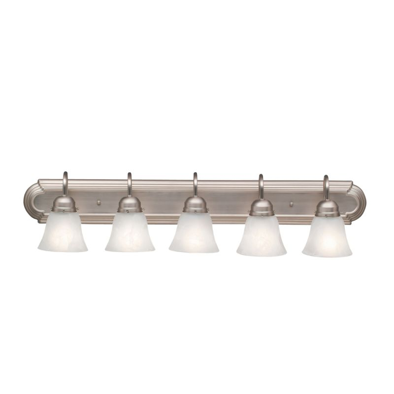Kichler 5339ni brushed nickel 5 light 36 wide vanity - 8 light bathroom fixture brushed nickel ...